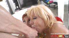 Sweet chick tara holiday and her friend suck a dick