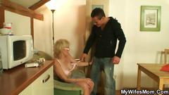 Porn-loving granny pleases her man hard