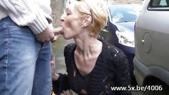 French mature babe bent over and fucked real hard