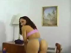 Skinny latina works on her boyfriend