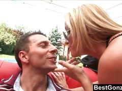 Blonde sexy cop gets fucked hard by a big dick guy
