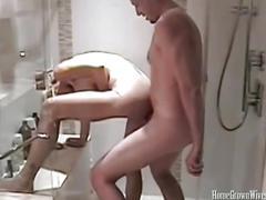 Blonde milf melanie skyy fucking a big hard cock.