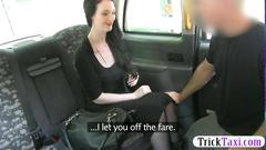 Taking a massive dick in the taxi