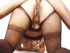 Big stepmom hard anal fucked by her small stepson