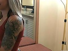 amateur, exploited, college, blowjob, blond, tats, goth