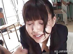 Slutty japanese fucked by gangbang