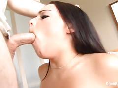 Stunning natasha nice tiny mouth on a huge cock