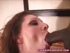 Gangbang archive - interracial gangbang party with creampie