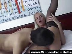 Lesbian sex with amsterdam prostitute for amateur blonde