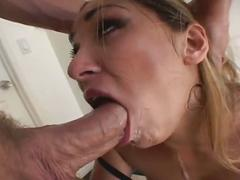 Anal drilling session with blonde slut
