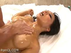 Asa akira oiled up  and amp; fucked hard