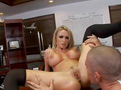 Nikki benz enjoys hot office fuck