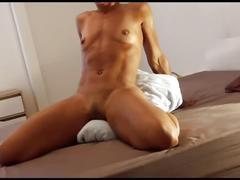Milf masturbating on her lucky pillow