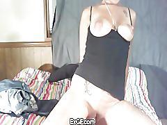 Exgf horny amateur rides a sex toy