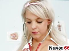 Blonde nurse kristina rud dildos her sweet cunt