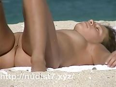 Just real nude girls at beach - voyeur