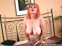 Shoot your cum load on grandma's face or tits