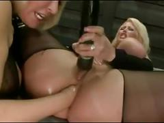 big butts, blondes, gaping, lesbians, sex toys