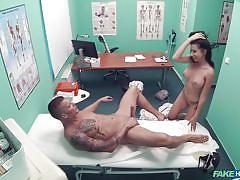 babe, hospital, rimjob, blowjob, busty, spy cam, tattooed, pierced clit, pov sex, fake doctor, fake hospital, fake hub, thomas j, lola bulgari