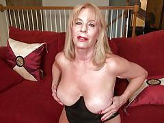 blonde, mature, solo, big boobs, tan lines, pussy fingering, on couch, clit rubbing, tit rubbing, mature nl, rae