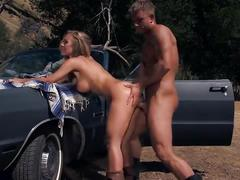 Sensual blonde nicole aniston fucks under the sun