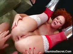 Double penetration on audrey and a cumshot2