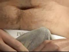 Hairy daddy randy wanks out solo