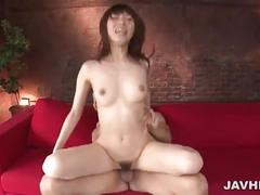 Lovely asian babe slammed in her trimmed pussy