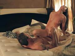 Exquisite milf sucks and rides her man's cock