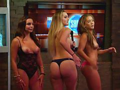 blonde, games, playboy, show, babes, topless, brunette, morning show, playboy tv, tiana nicole