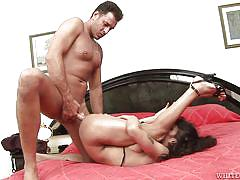 Dirty shemale gets her ass stretched @ monsters of shemale cock #34