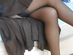 high heels, nylon, softcore, stockings, upskirts