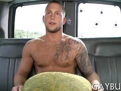 Wild cock riding inside a car video