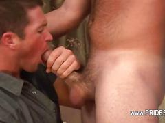 Hairy guy expresses his love for dick with a blowjob