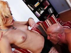Blonde slut ash hollywood gets banged very hard