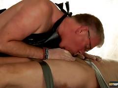 Sebastian tortures alex's hard cock