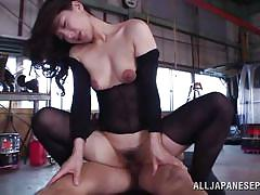 Marina fucked hard by two cocks