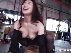 milf, threesome, anal, asian, blowjob, double penetration, brunette, from behind, censored, riding cock, sideways, body stockings, anal nippon, all japanese pass, marina matsumoto
