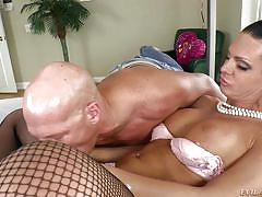 milf, shemale, jerking, blowjob, bubble butt, black hair, fishnet stockings, 69 position, shemale idol, evil angel, lina cavalli, christian xxx