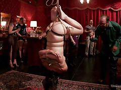blonde, bdsm, babe, hanging, stockings, pussy licking, public sex, tied up, the upper floor, kink, dani daniels, penny pax, ramon nomar