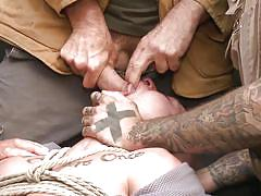 Grabbed tied and fucked by crazy rednecks