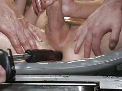 Gay gang bang with anal insertion