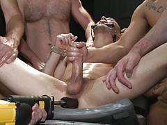 Gay gang bang with anal insertion