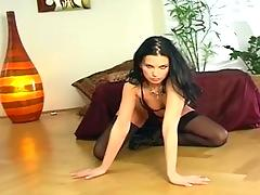 erotic, skinny, smalltit, stockings, legs, pantie, pussy finger