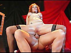 Busty redheaded slut analized