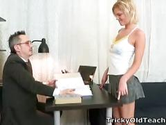 Innocent shelly fucked by old teacher