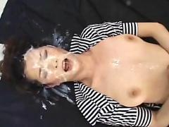 japanese, asian, abuse, facial, bukkake