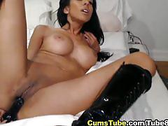 Hot arab american strips and plays her juicy pussy