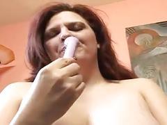 Chubby and busty mature fucks with ebony male