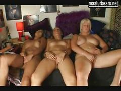 3 best friends masturbating together and having strong orgasms